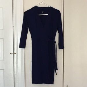 Royal blue classic Ann Taylor wrap dress